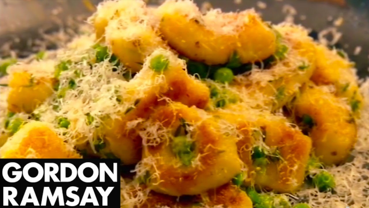 Homemade Gnocchi Recipe With Peas and Parmesan - Gordon Ramsay