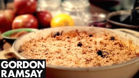 Gordon Ramsay's Apple and Cranberry Crumble Recipe