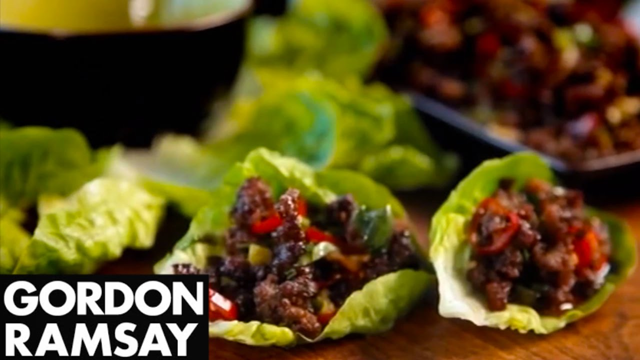 How to Make Chilli Beef Lettuce Wraps - Gordon Ramsay