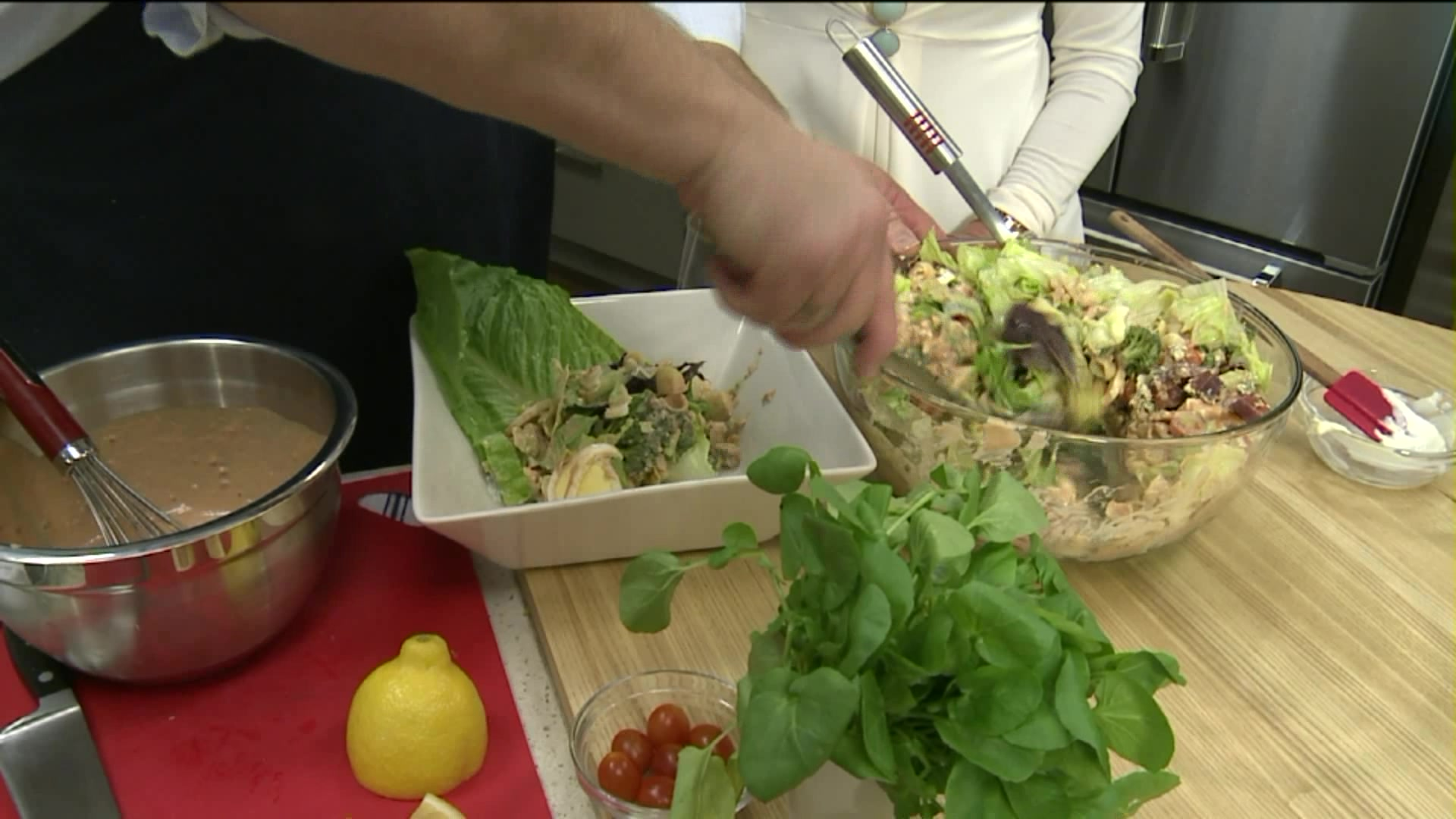 How To Make A Spring Seafood Cobb Salad