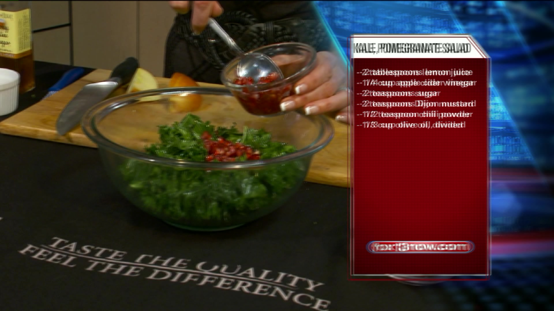 How To Make Kale & Pomegranate Salad