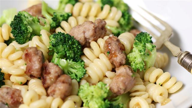 Sausage Meatball and Broccoli Pasta Recipe