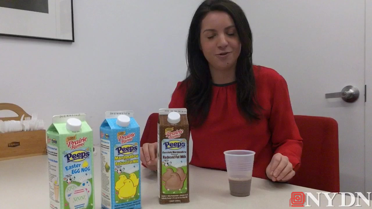 Daily News Tries New Peeps Milk