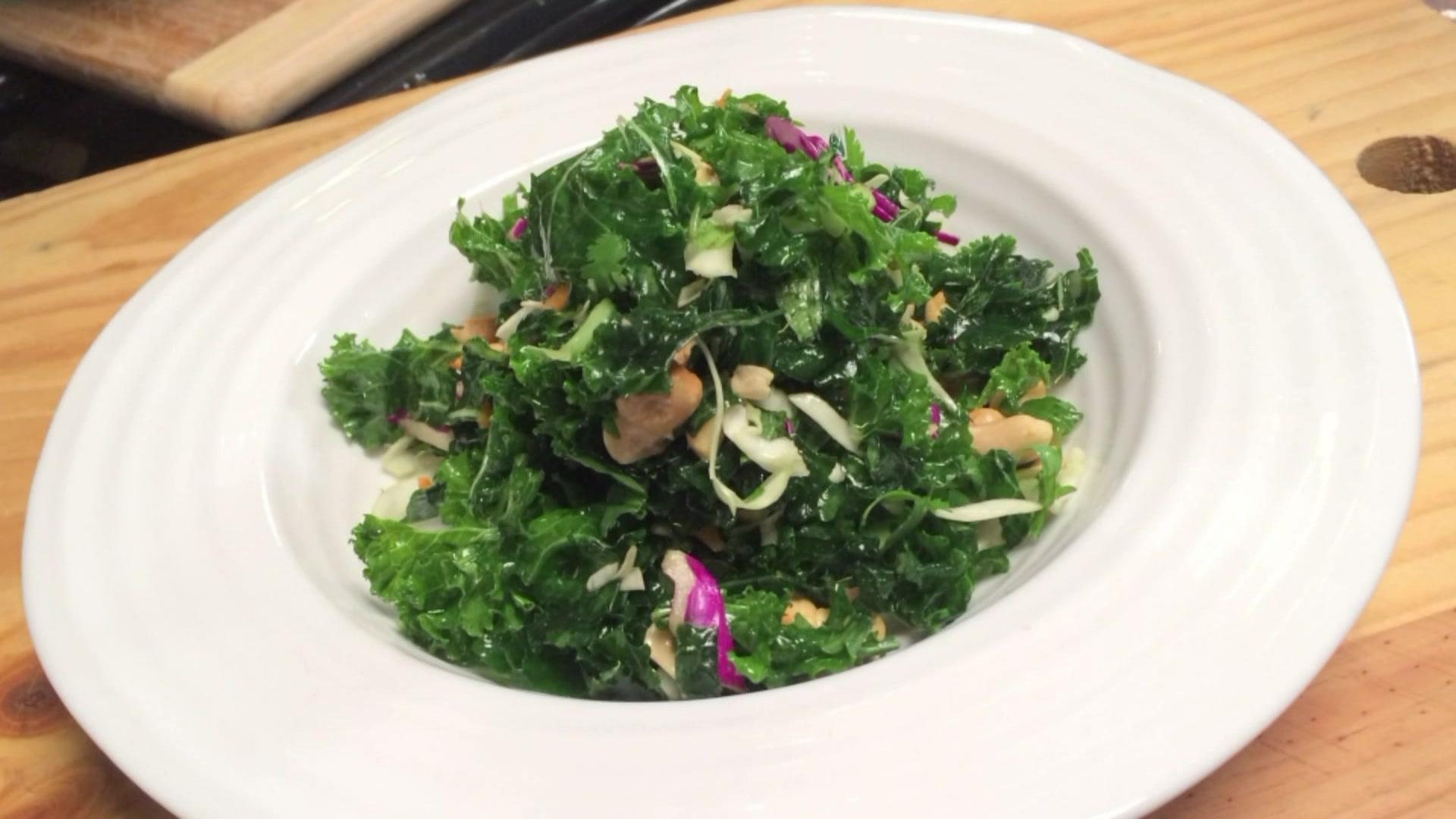 How to Make a Peanut and Kale Salad