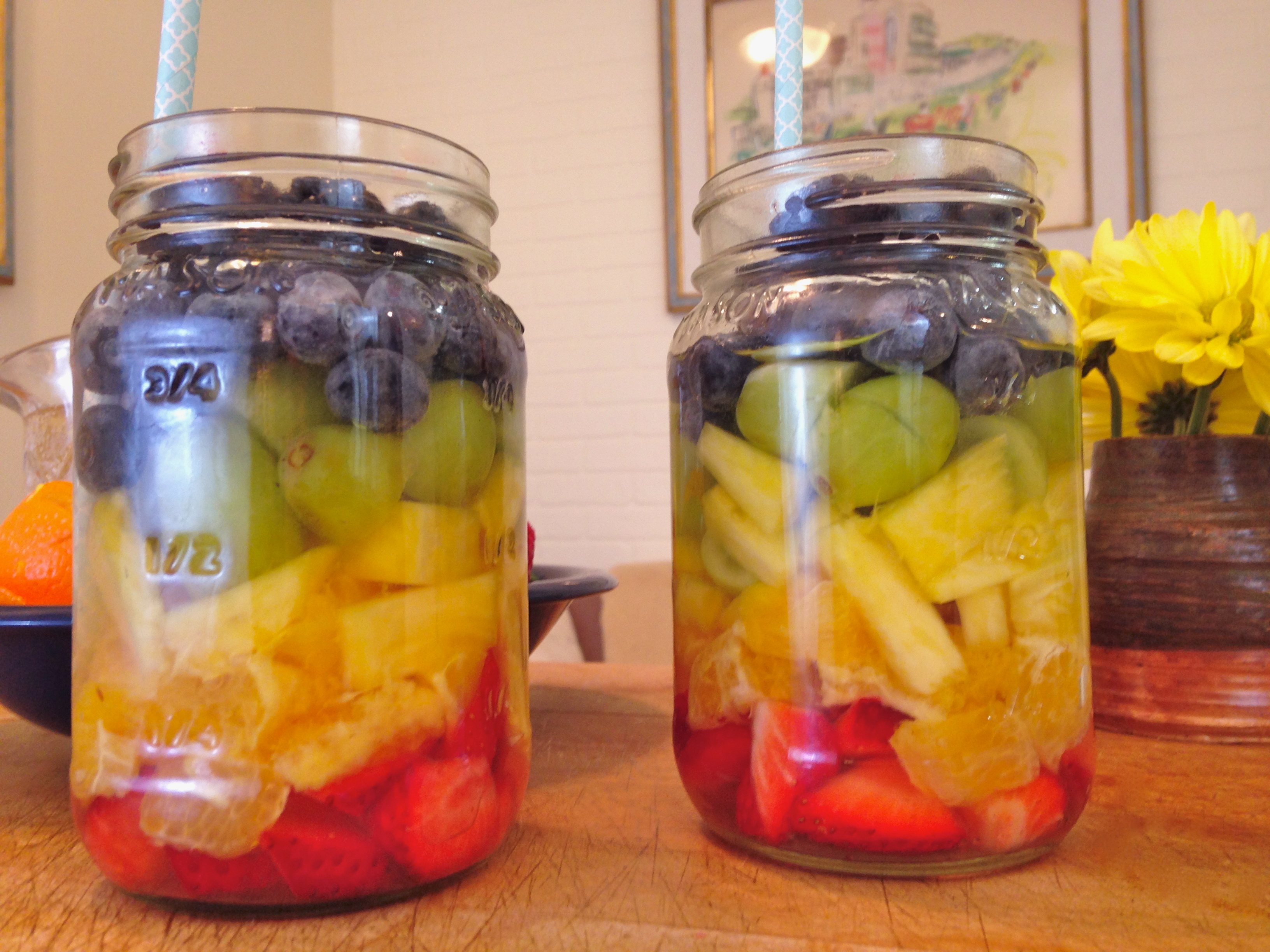 Rainbow Sangria for St. Patrick's Day
