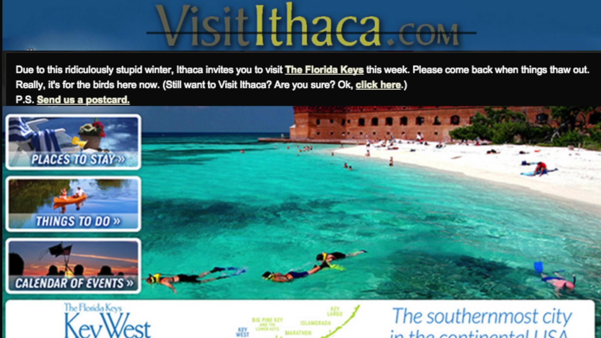 Ithaca Tourism Bureau Promotes Key West Instead