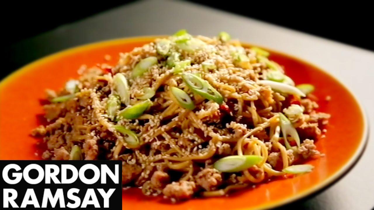 Gordon Ramsay's Amazing Stir-Fried Spicy Pork Noodles