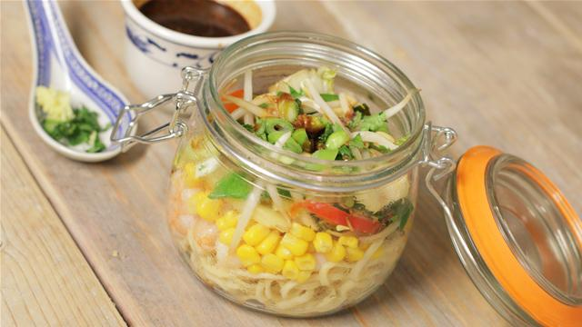 How to Make Noodle Soup Jars