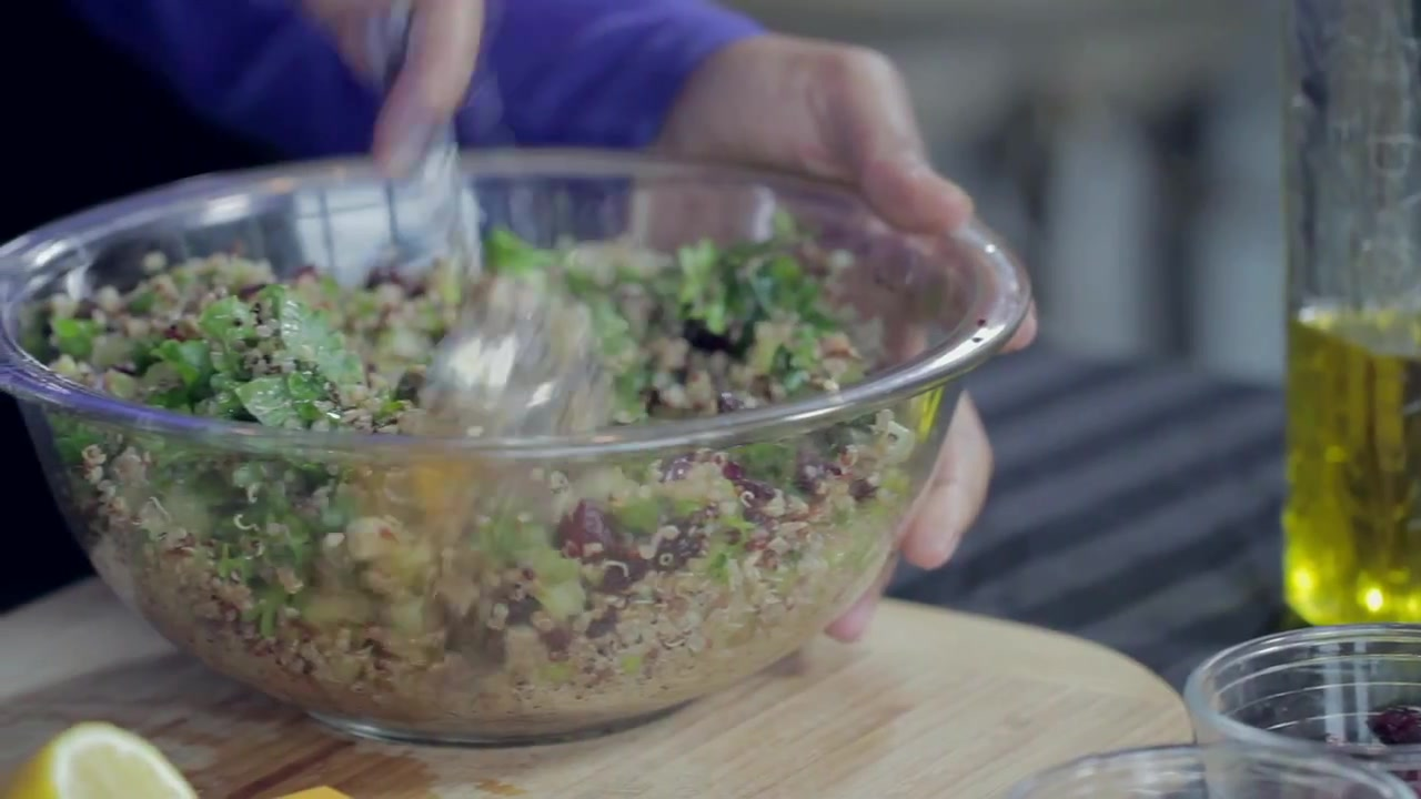 Sprouted Cranberry and Kale Quinoa Recipe