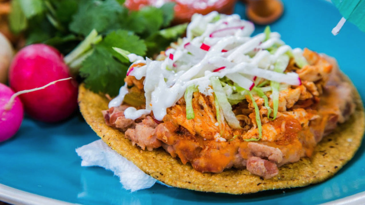 How to Make Marcela Valladolid's Chicken Tinga Tostadas