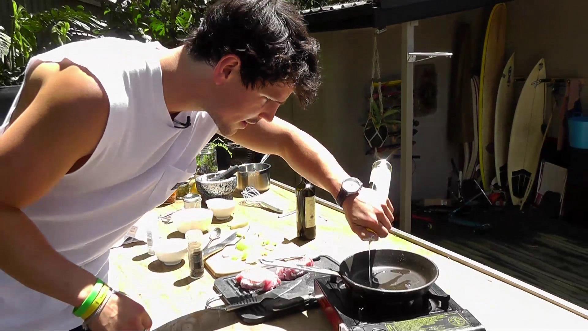 Chef Dan Churchill's Pork Loin with Balsamic-Apple Sauce Recipe