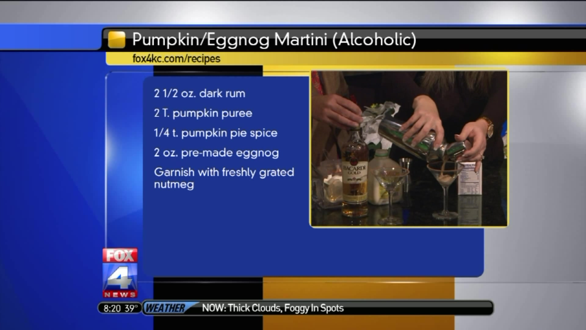 Holiday Cocktails: How To Make Pumpkin Eggnog