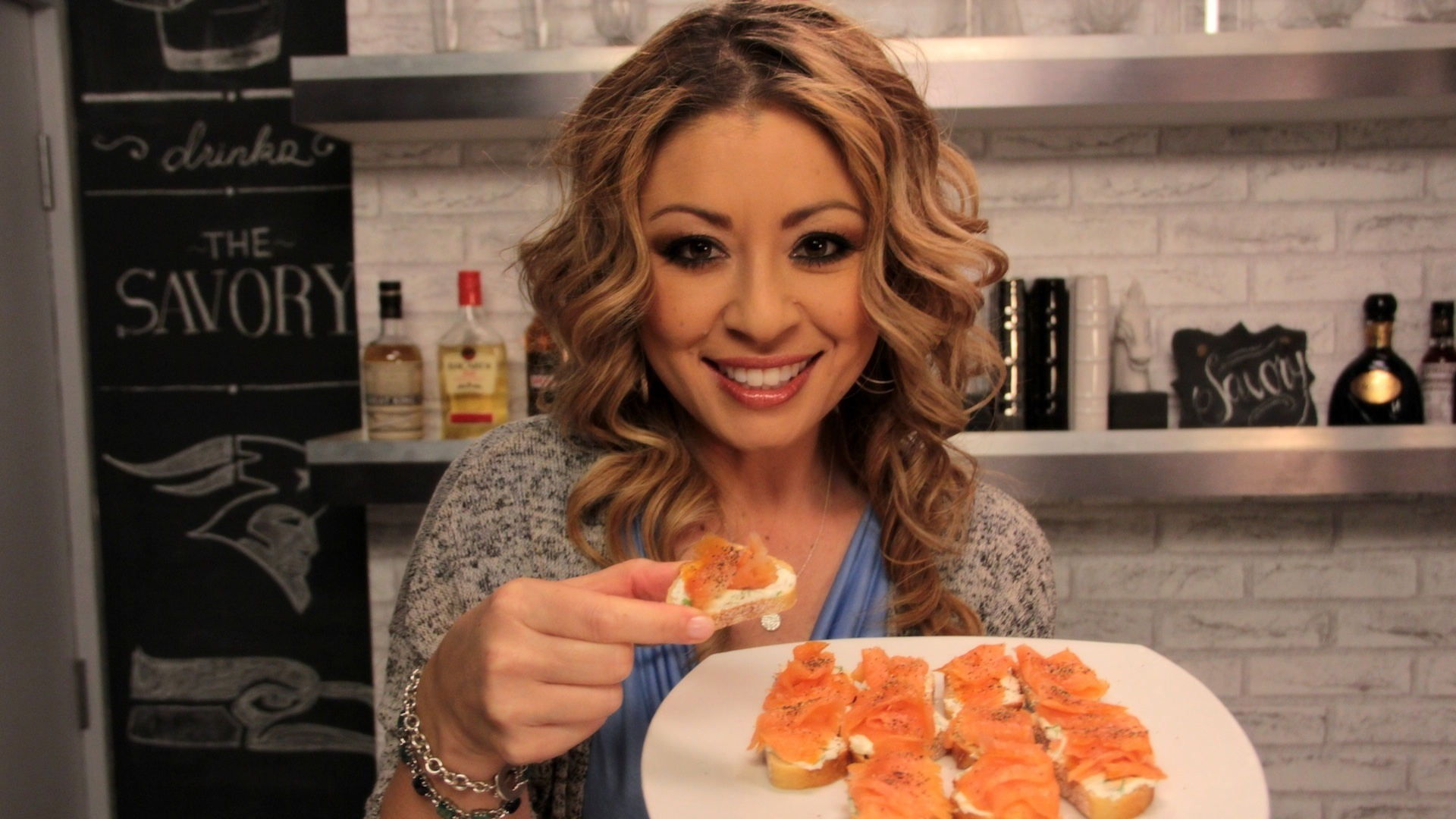 Super Bowl Party; How to Make Salmon Crostini and a Coffee Old Fashioned