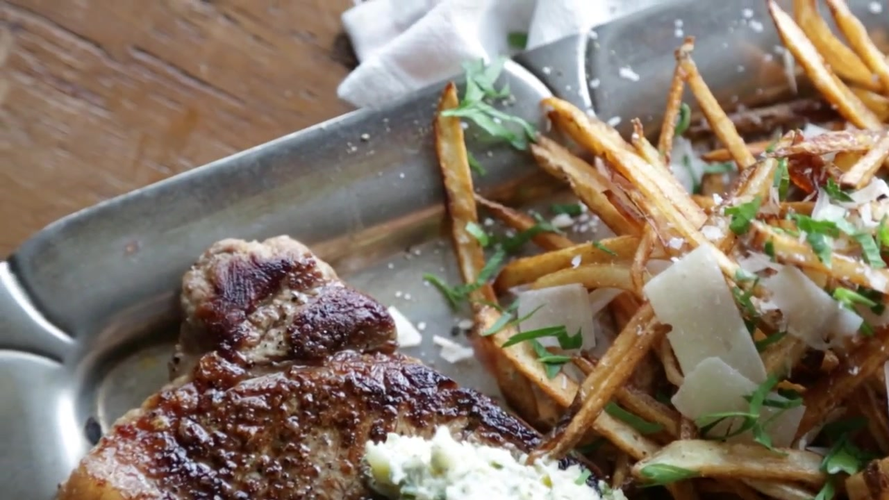 How to Make Steak Frites with Lemon Herb Butter