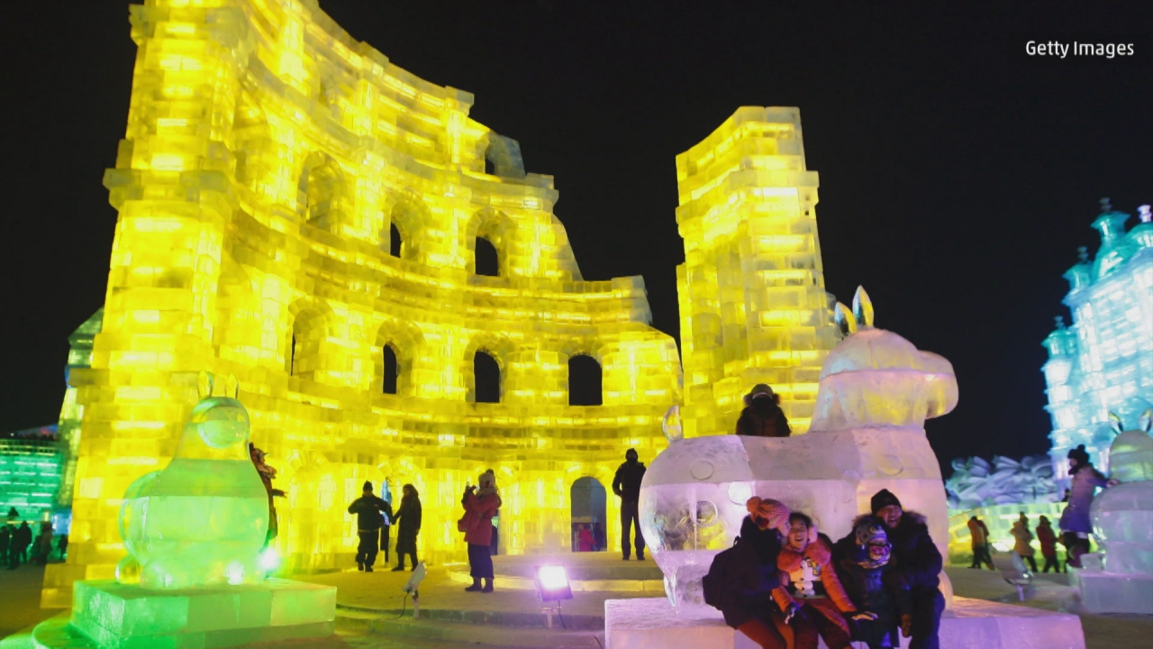 The Coolest Ice Festival Is Held in Harbin, China
