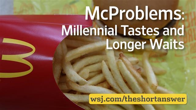 McDonald's McProblems: Millennial Tastes and Longer Waits