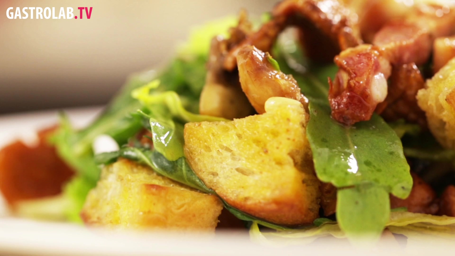 How to Make a Christmas Salad with Pancetta, Chanterelles and Pine Nuts