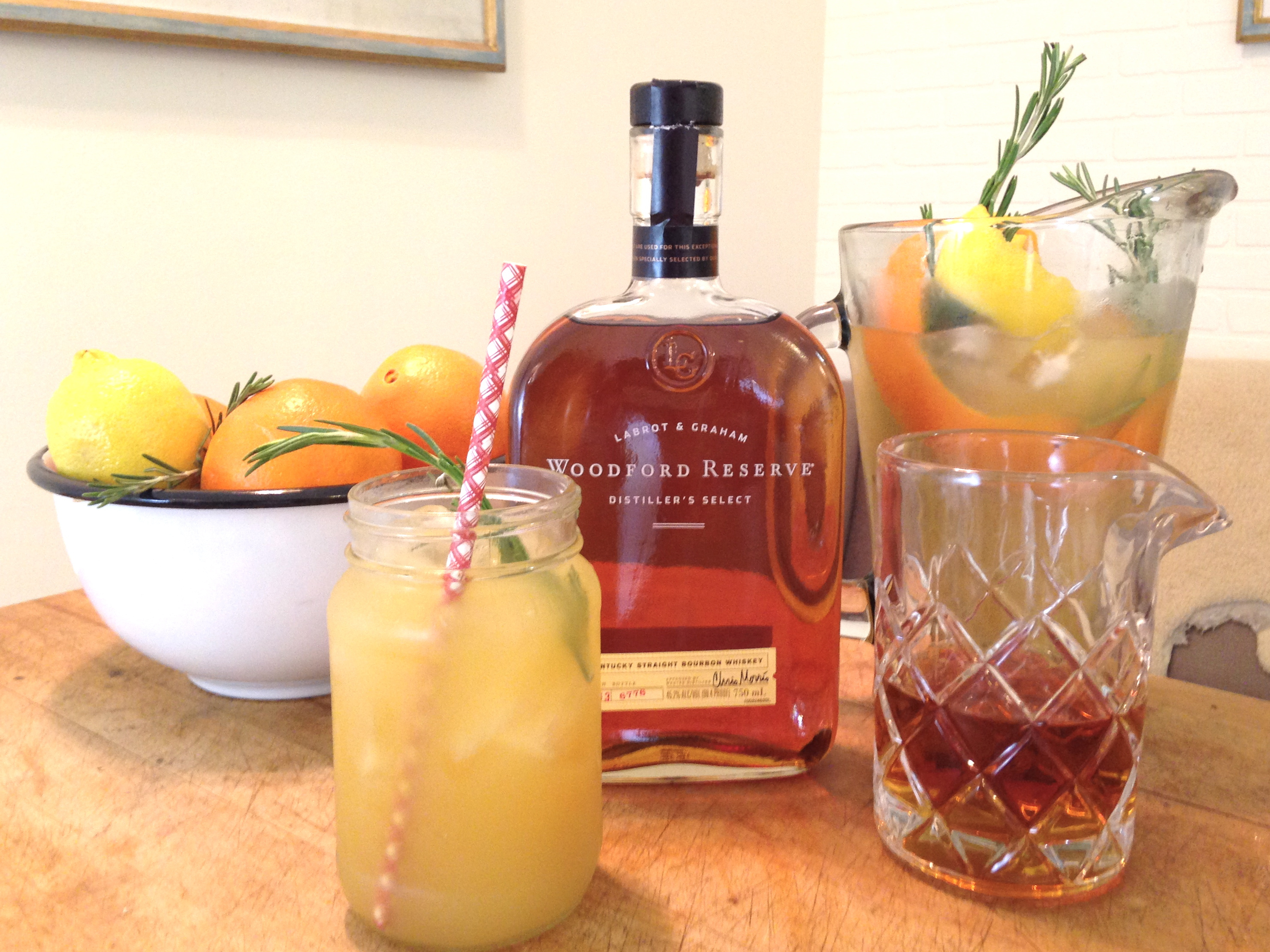 Bourbon, Citrus and Rosemary Holiday Punch