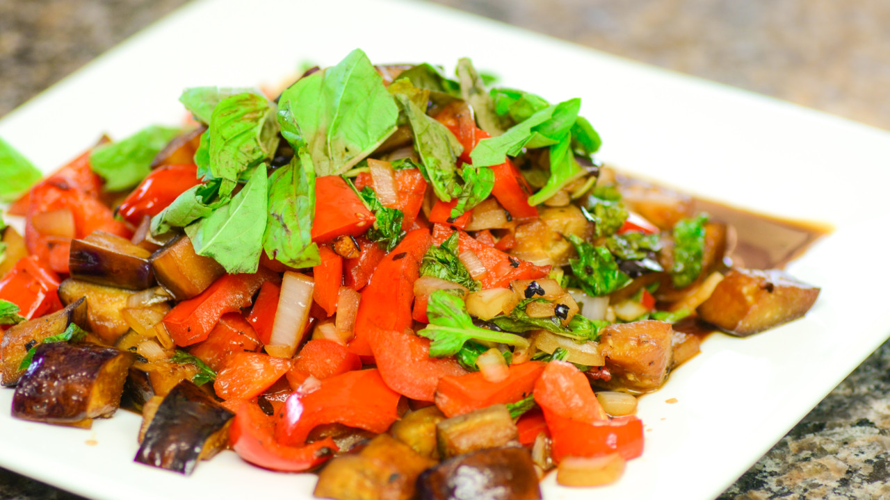 Aromatic and Spicy Thai Eggplant Stir-Fry