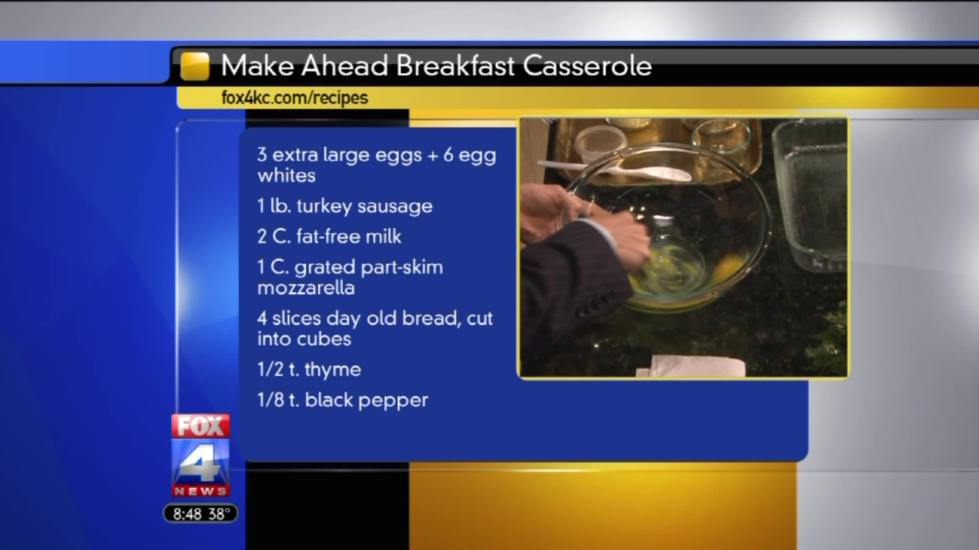Healthy Make Ahead Breakfast Casserole Recipe