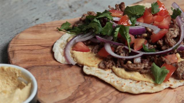 Turkish Lamb Flat Bread Pizza Recipe