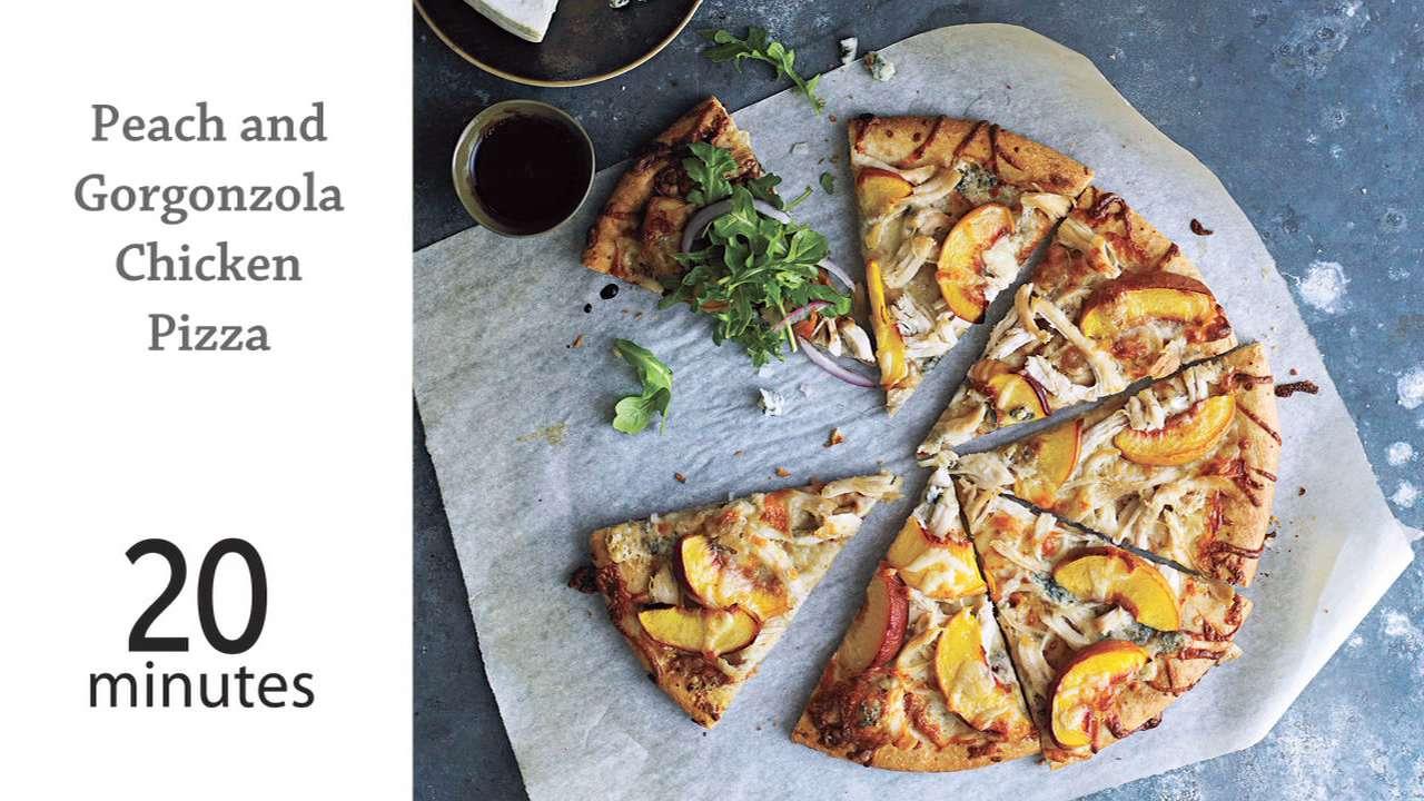 Peach and Gorgonzola Chicken Pizza Recipe