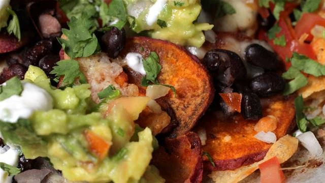 Vegetarian Sweet Potato Nachos Recipe