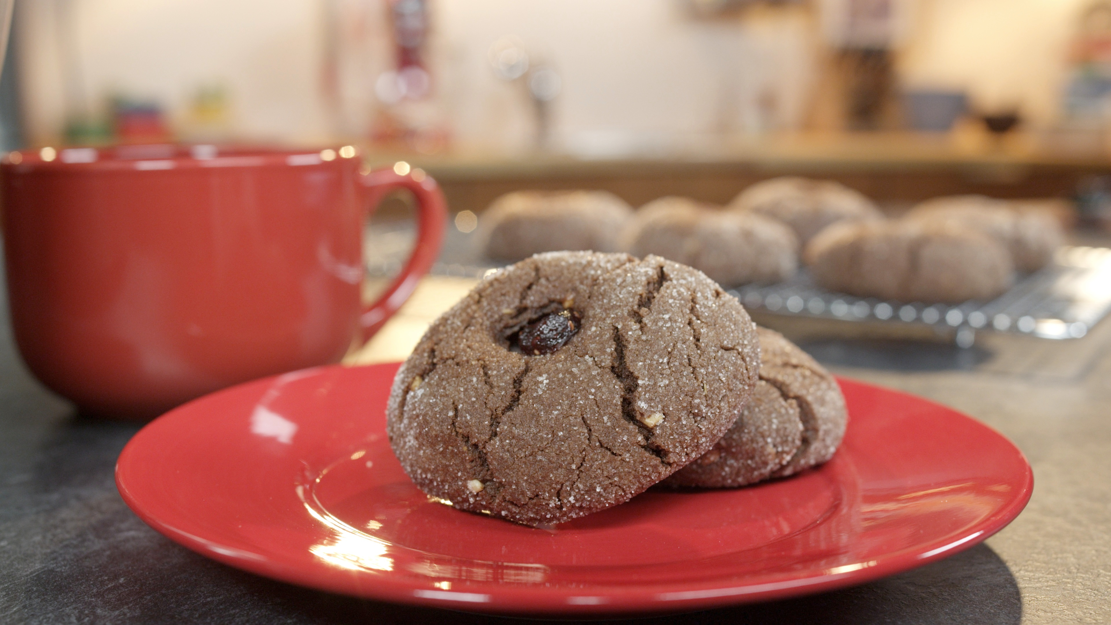 Cocoa Peanut Butter Cookies With Jam Recipe