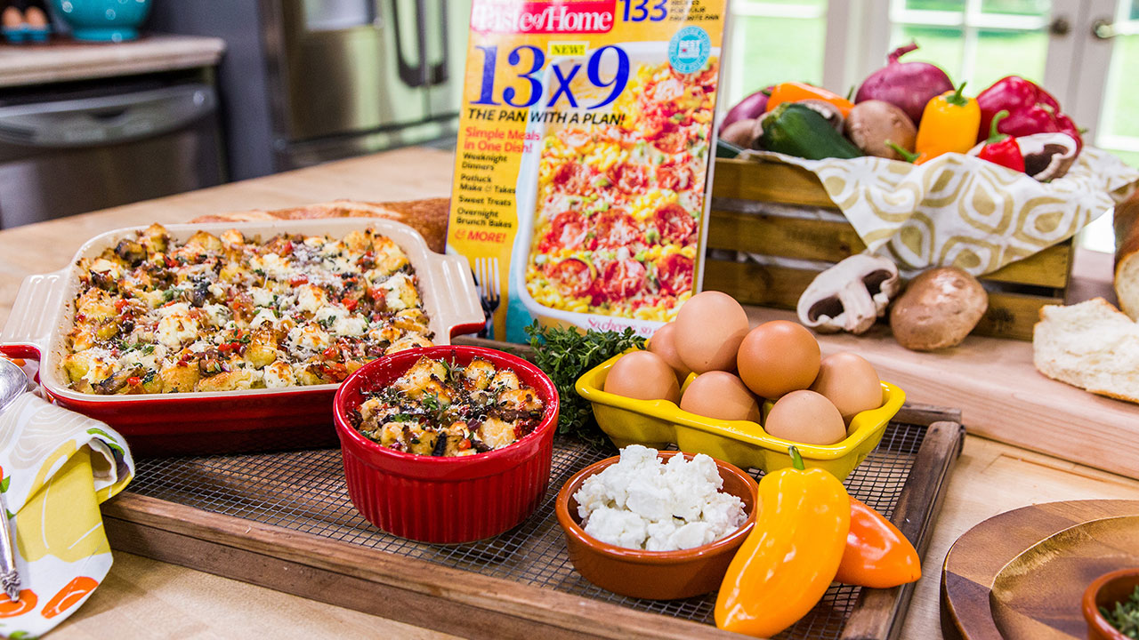 'Taste of Home' Magazine's Vegetarian Egg Strata Recipe