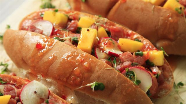 How to Make Rainbow Hot Dogs