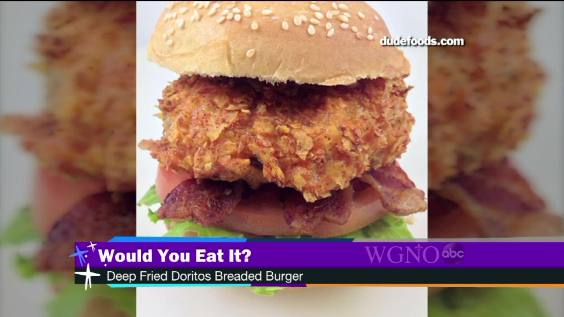 Would You Eat It? Deep Friend Doritos Breaded Burger
