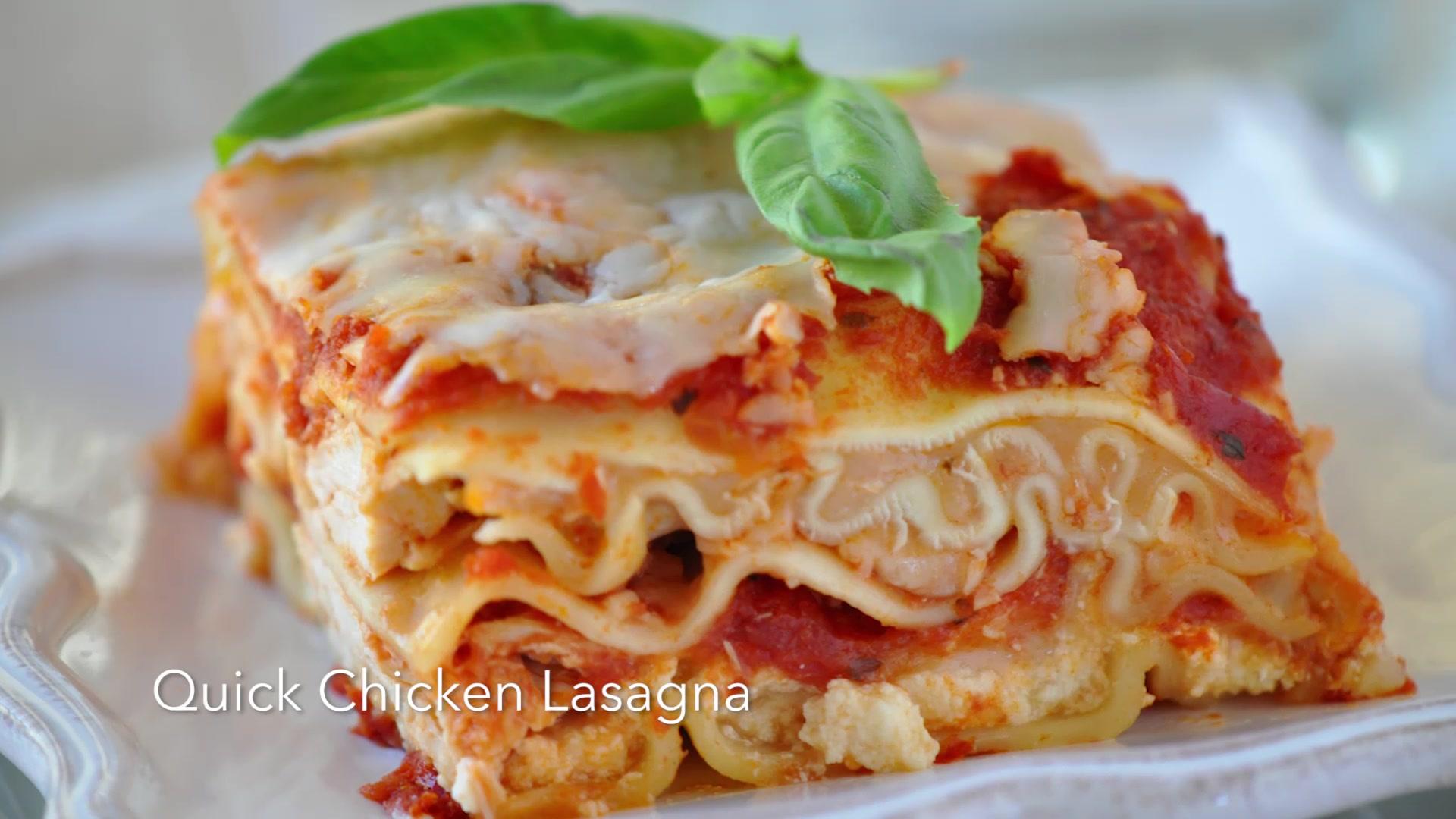 How to Make Quick Chicken Lasagna