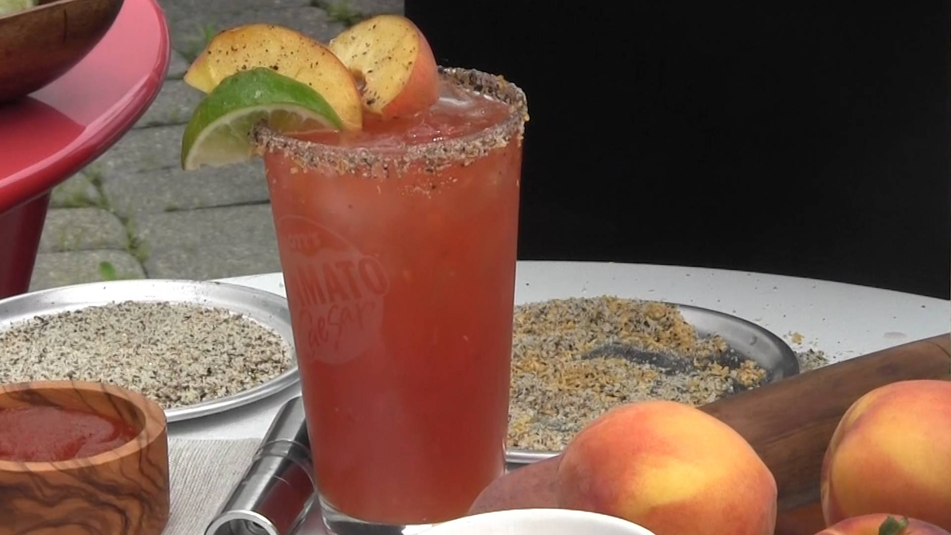 Try a Peachy Twist on the Caesar Cocktail for Canada Day