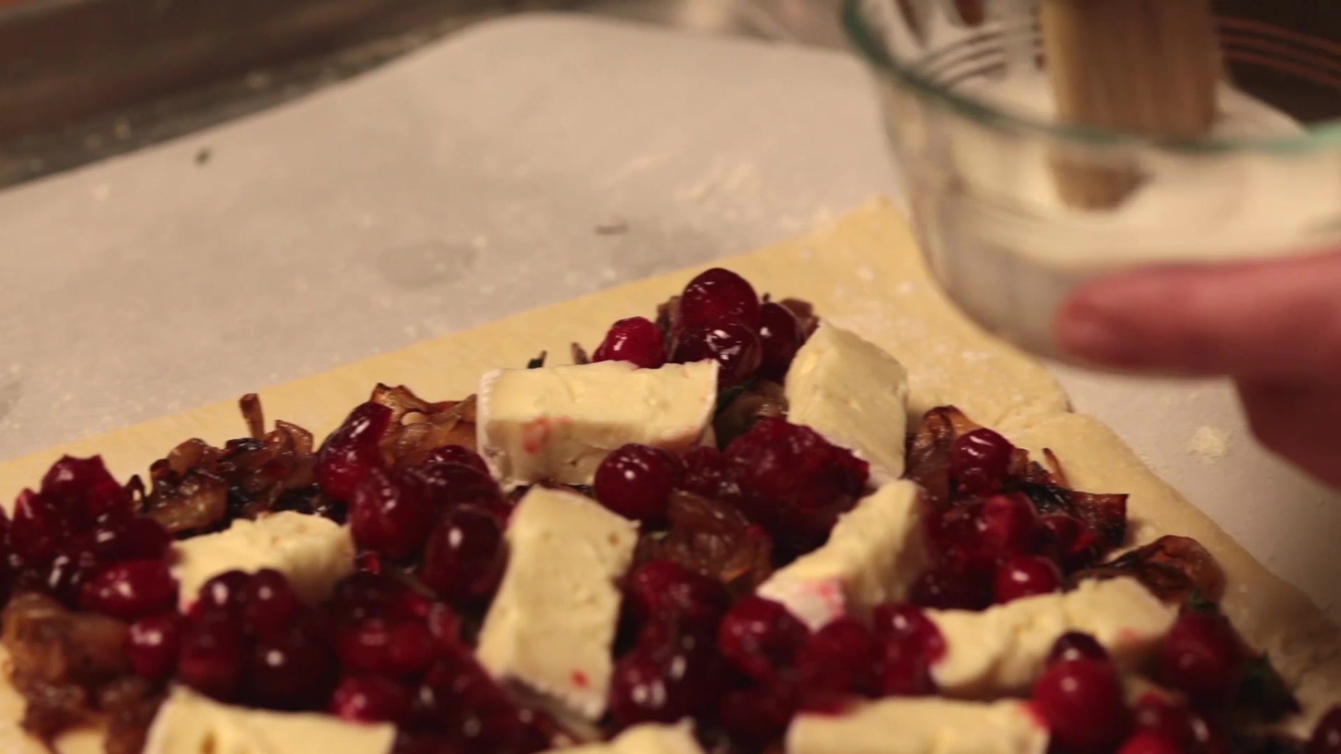 How to Make a Cranberry, Brie and Onion Tart