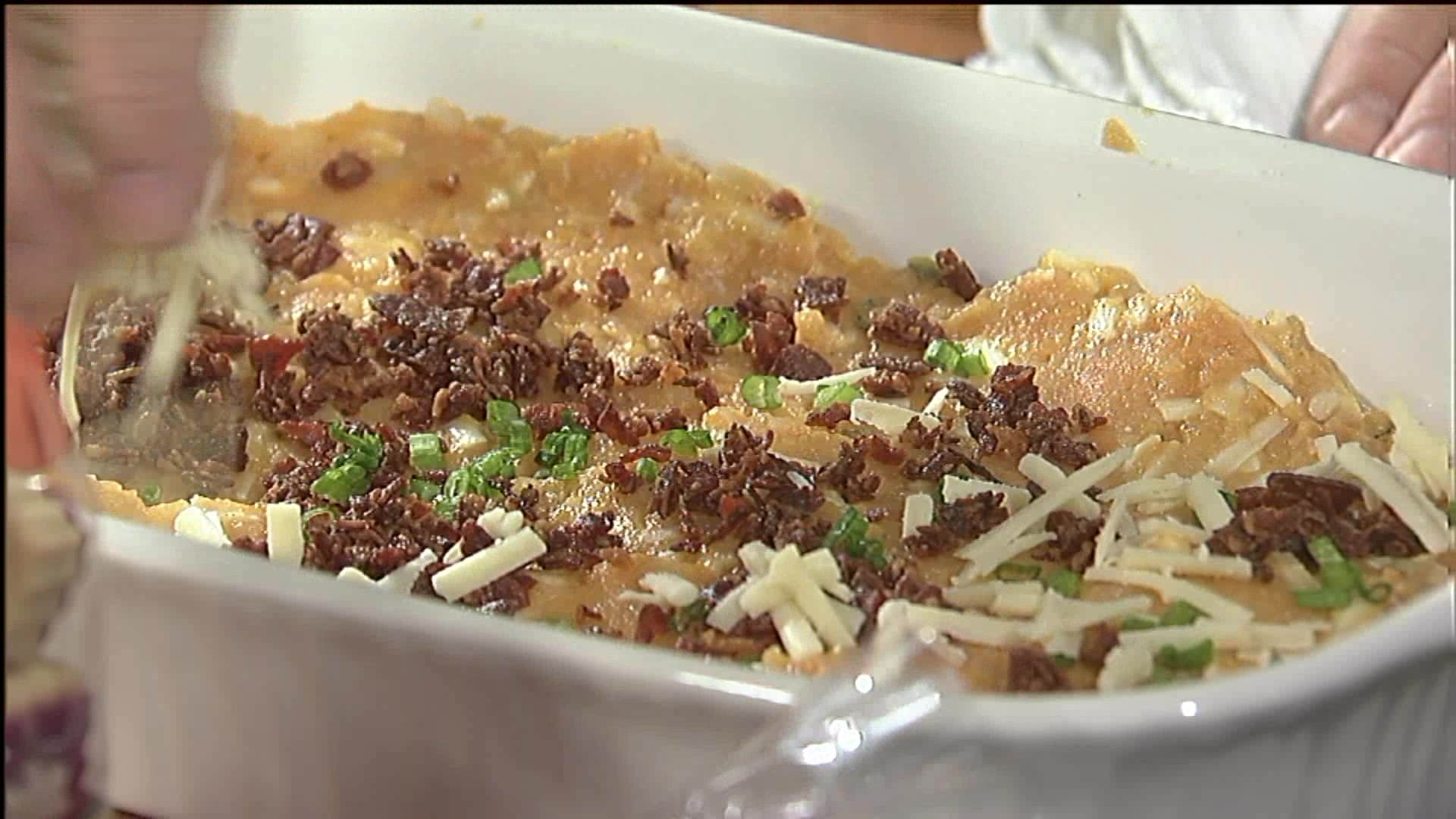 Thanksgiving Side Dishes: Pumpkin & Potato Casserole With Bacon