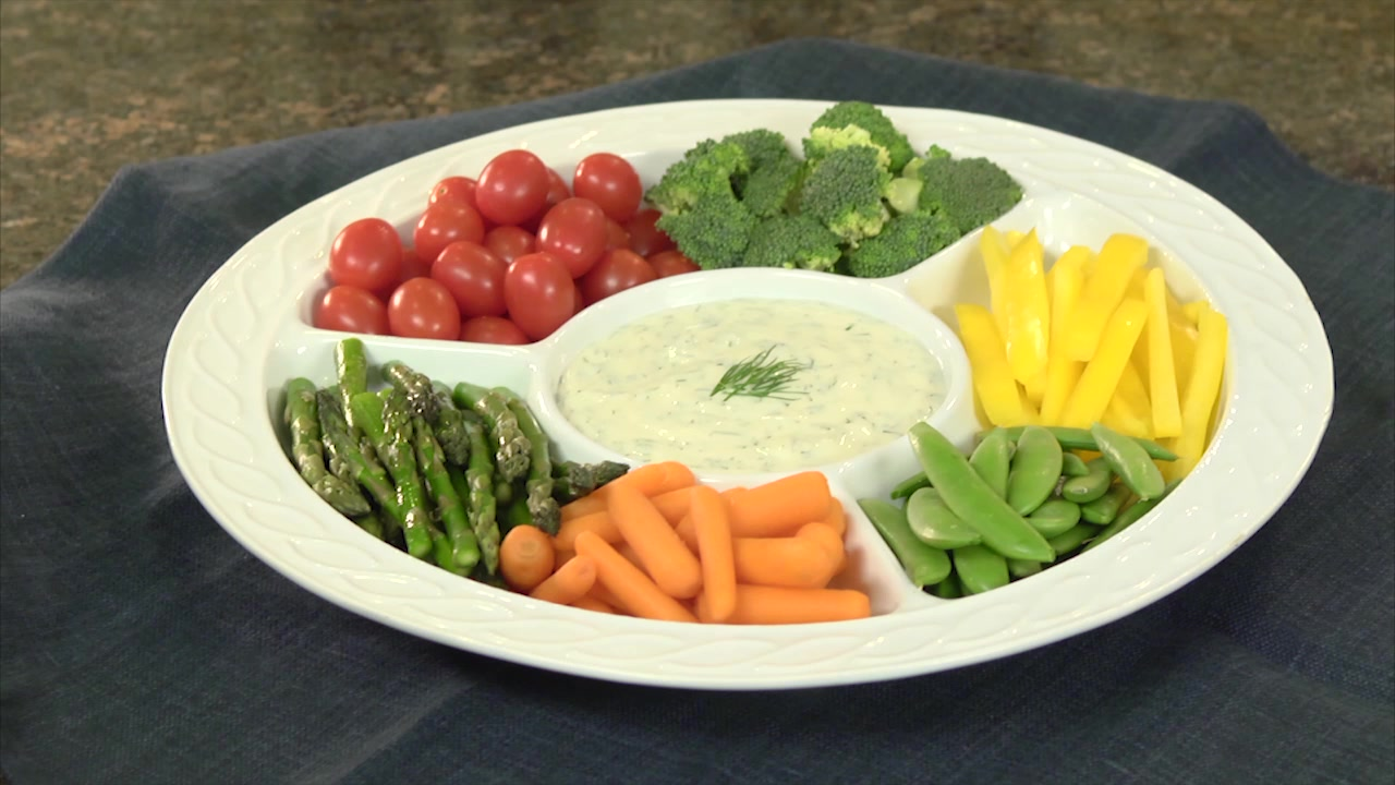 How to Make a Rainbow Vegetable Dip