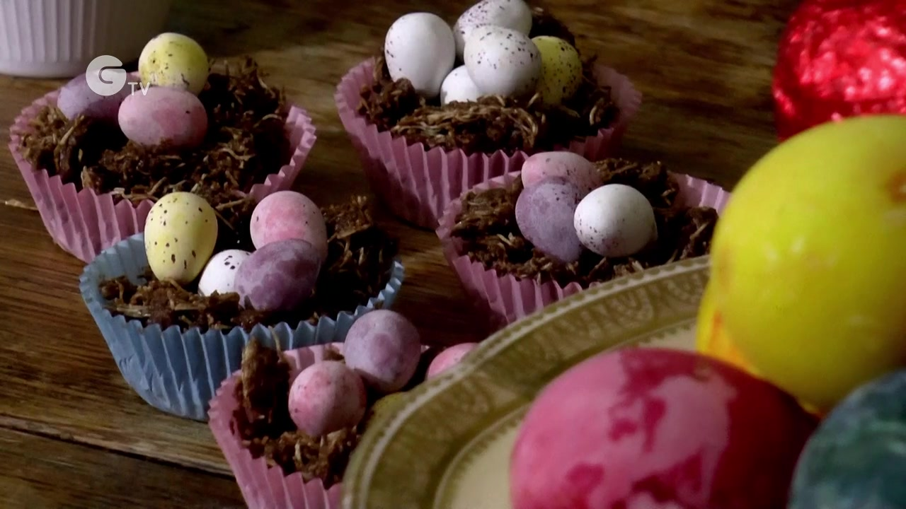 How to Make Chocolate Nests for Easter