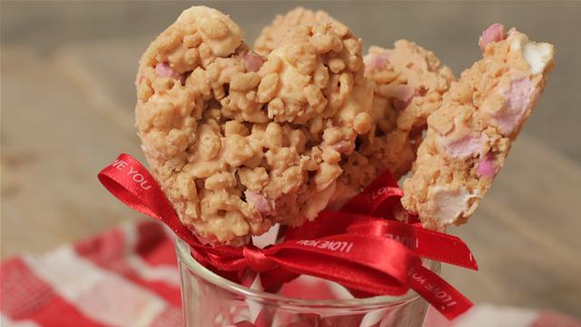 How to Make Valentine's Rice Krispie Hearts