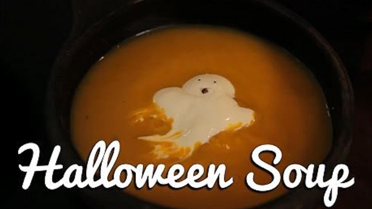Halloween Soup to Scare Kids Into Eating Veg!