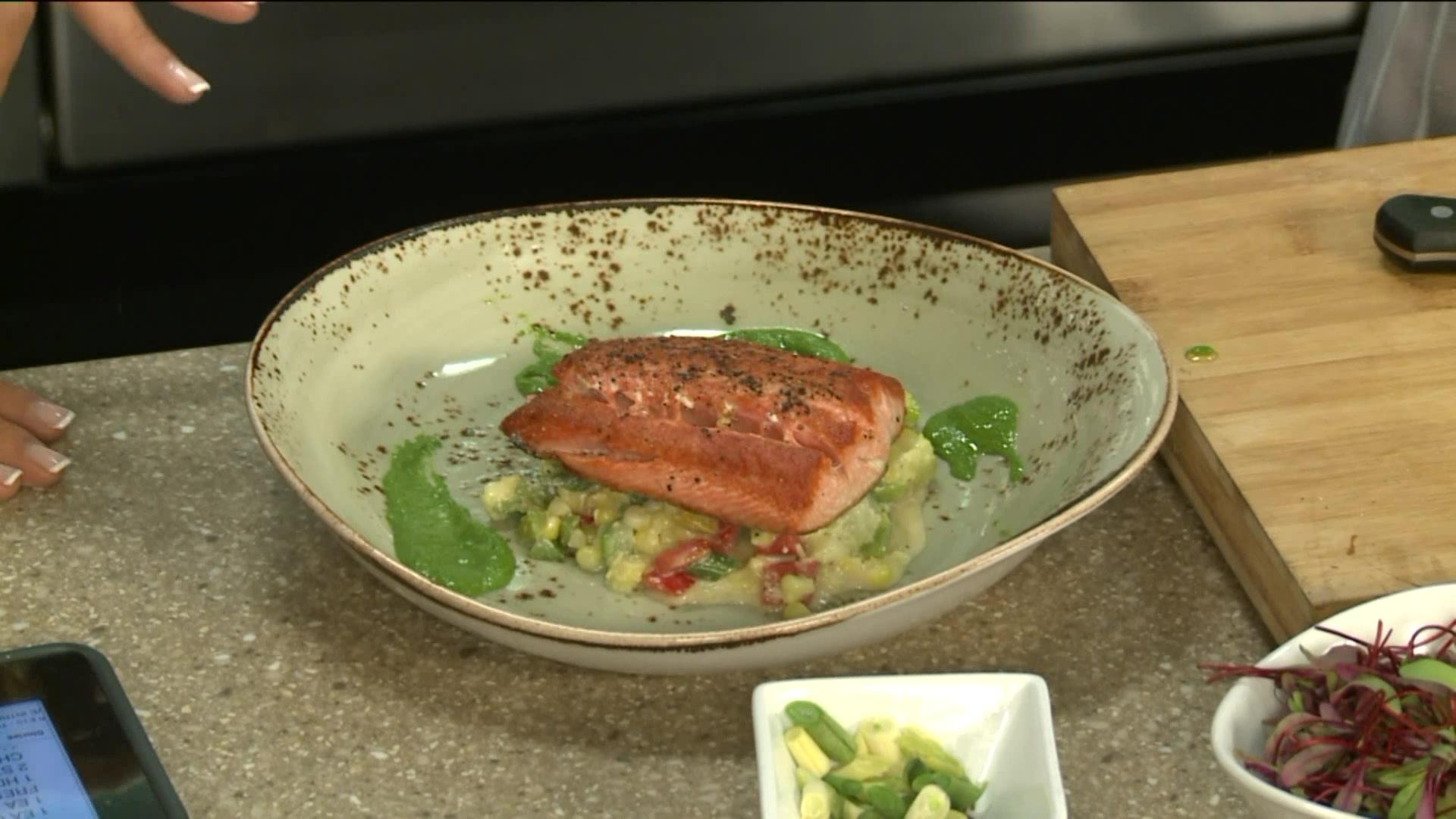 How To Make A Delicious Salmon Succotash