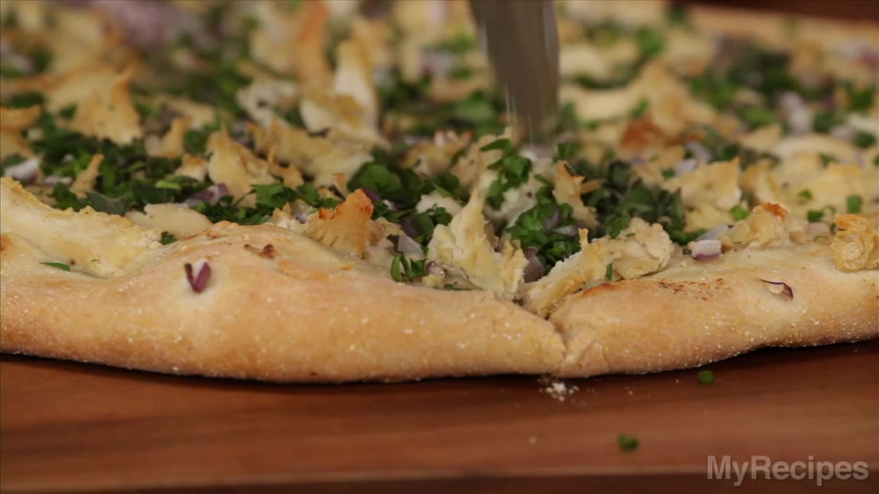 Dinner Tonight: Chicken and Herb White Pizza