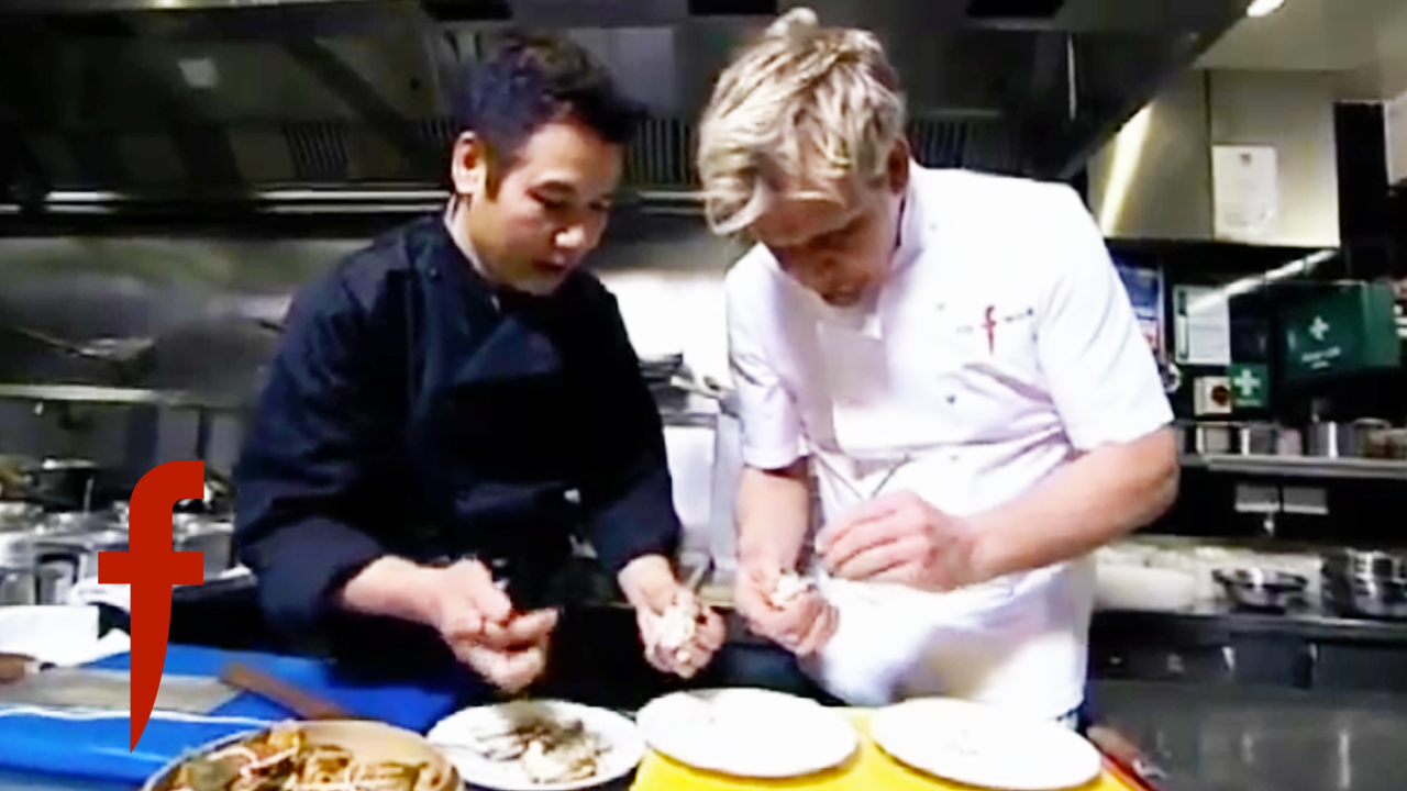 Gordon Ramsay's Chinese Mitten Crab with Ginger Recipe
