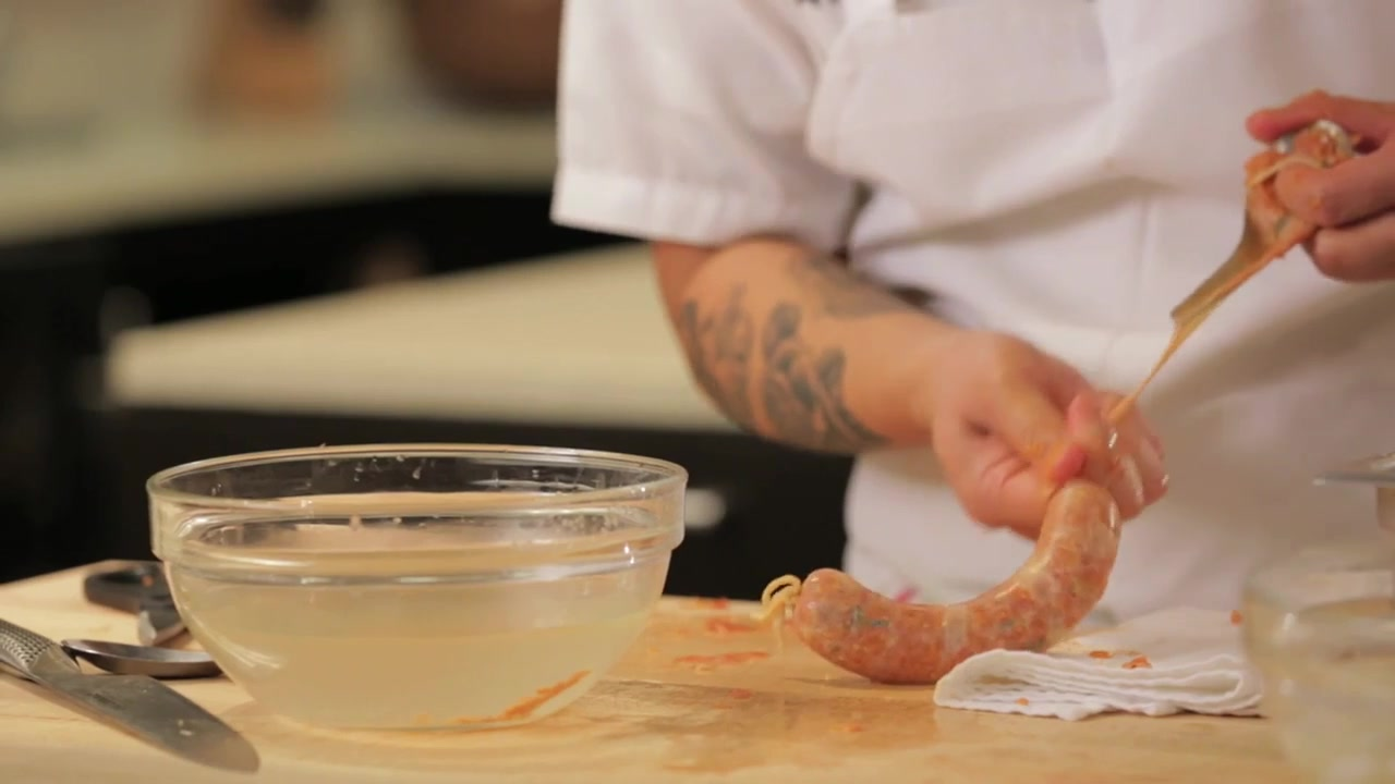 Learn to Stuff Sausage With a Soup Spoon
