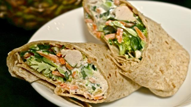 Healthy Crunchy Hawaiian Chicken Wrap Recipe