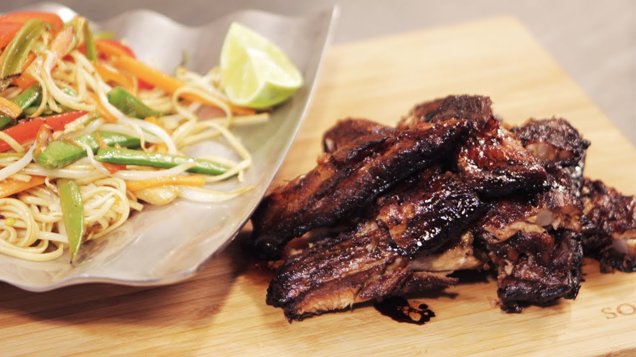 Learn to Make Hoisin Ribs and Chow Mein Noodles