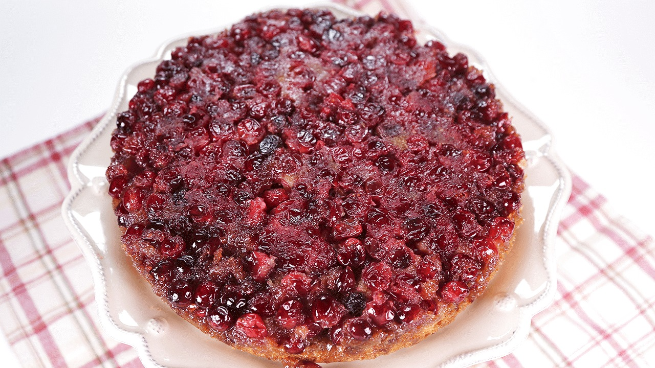 'The Chew': Cranberry Ginger Upside Down Cake with Rum Whipped Cream
