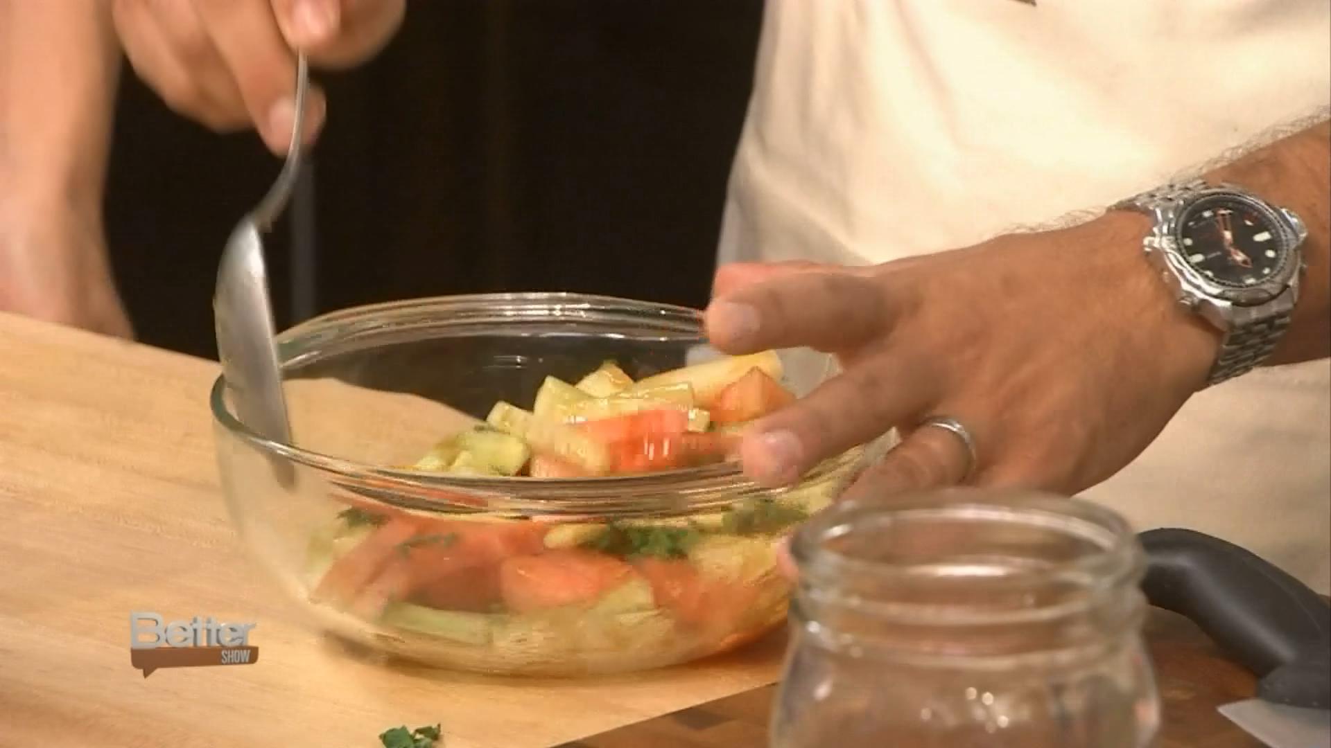 Chef Hong Thaimee's Watermelon and Cucumber Salad Recipe