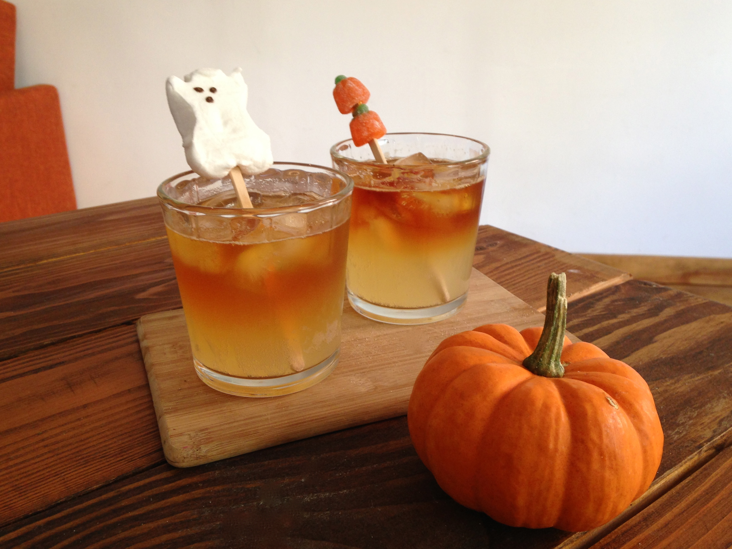 Dark and Stormy Night Halloween Cocktail