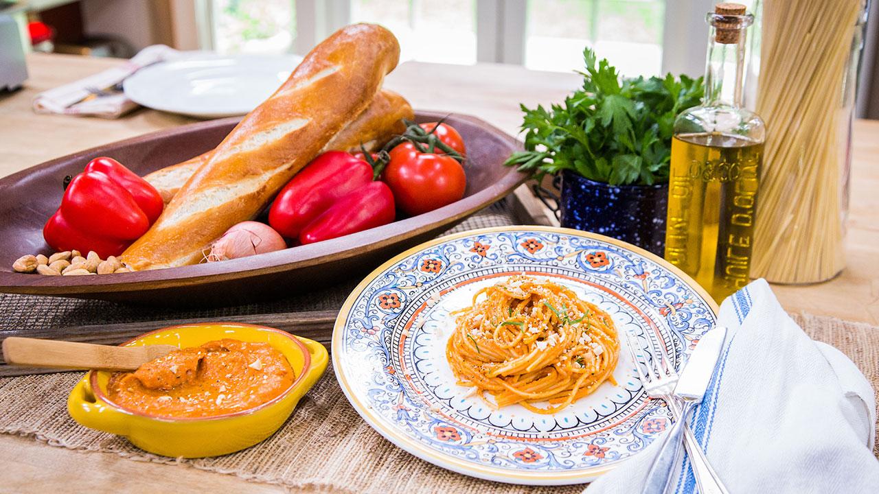 Chef Fabio Viviani's Spaghetti Romesco Recipe