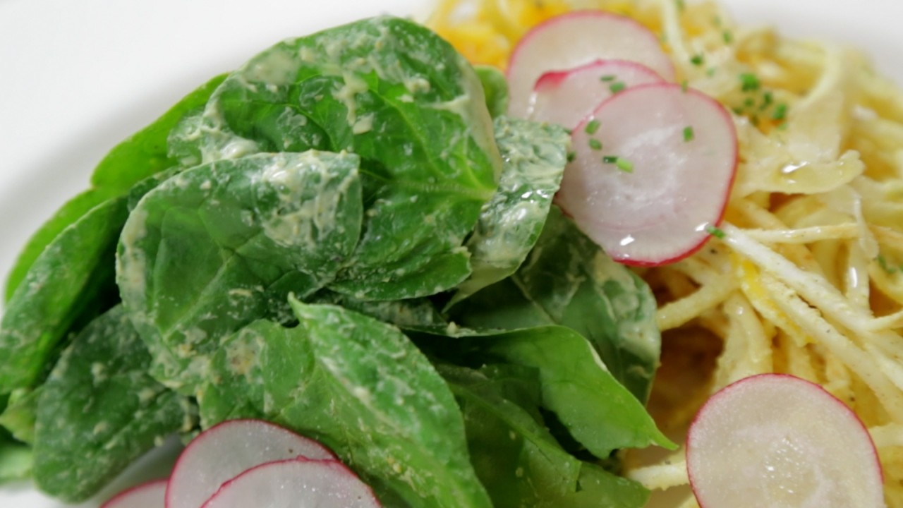 Butternut Squash 'Noodle' Salad, Constructed